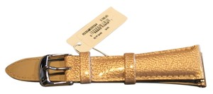 Michele Michele sand (goldtone) 20mm leather band