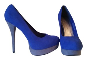 JustFab Royal Blue / Gray Platforms