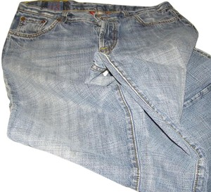 Lucky Brand Worn Marks Boot Cut Jeans-Distressed