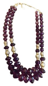 Robert Rose Robert Rose Signed Vintage Necklace, Beautiful Purple Double Strands, 21 Inches