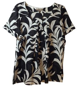 Tommy Bahama Top Black & White