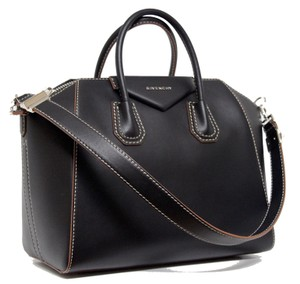 0fa8bae1ab Givenchy New Antigona Medium Natural Calf Black Leather Satchel ...
