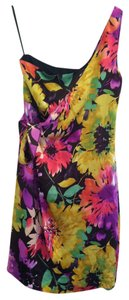 The Limited short dress Pink Green Purple Floral on Tradesy