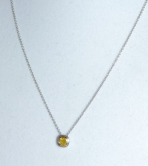 Tiffany & Co. Stunning Tiffany & Co. Canary Yellow Diamond Pendant Necklace