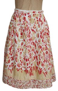 Think Tank Printed Floral Skirt MULTI COLOR