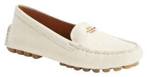 Coach Opal Loafer Logo Gold Chalk Flats