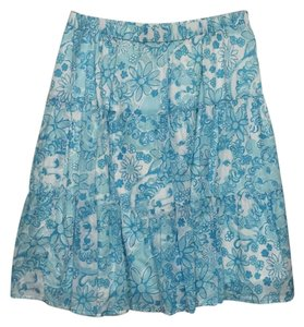 Lilly Pulitzer Skirt Turquiose & White