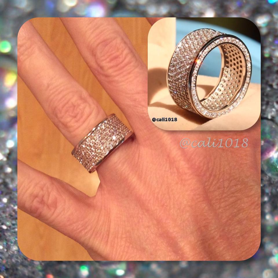 Silver New 320pc Pave Thick Eternity White Gold Filled 6 8 Women\'s ...