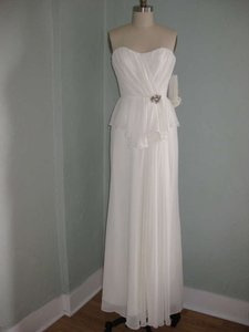 Jim Hjelm Occasions White Special Occasion Dress Wedding Dress