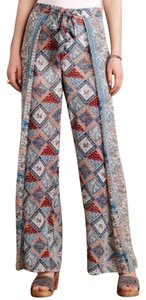 Anthropologie Elevenses Seaflower Palazzo Wide Leg Pants Multi