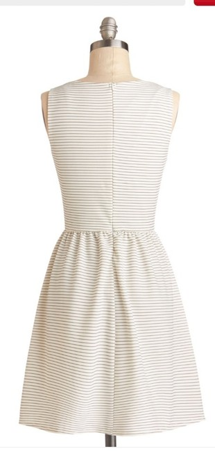 Moon Collection short dress White with black stripes on Tradesy