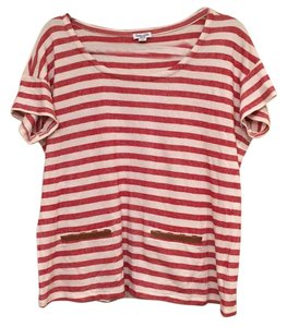 Splendid T Shirt Red/cream