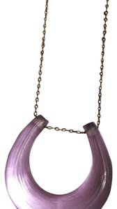 Alexis Bittar Horse Shoe Shaped Lucite Necklace