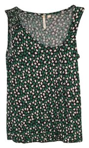 Anthropologie Top Black/green/white