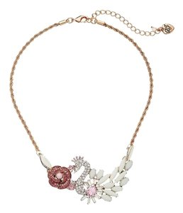 Betsey Johnson Betsey Johnson Ballerina Rose Swan Frontal Rose Gold Necklace NWT $50