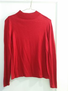 Lord & Taylor Silk Mock Neck Longsleeve Sweater