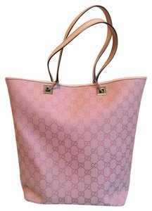 Gucci Canvas Tote in Pink
