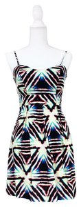 Material Girl short dress White black on Tradesy