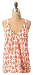 Anthropologie Eloise High Flying Top Coral Motif