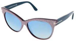Tom Ford Tom Ford Light Pink/Blue Stripe Cateye Sunglasses