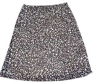 New York & Company Skirt Black/White