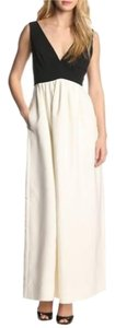 JILL JILL STUART V Neck Gown Pockets Maxi Dress