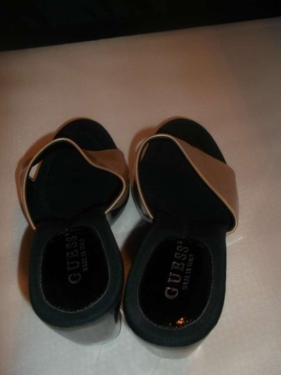 Guess High Heels Size 9 Peach/black Wedges
