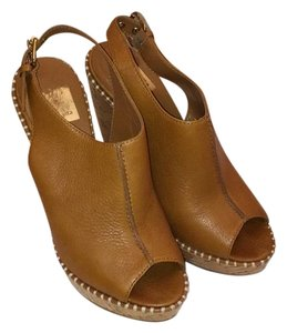 Dolce Vita Chestnut Brown Leather Wedges