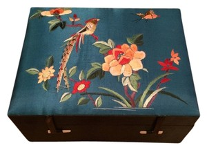 Rare Handmade Chinese Silk Embroidered Jewelry Box