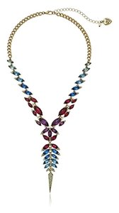 Betsey Johnson Betsey Johnson Spider Lux Gold Tone Crystal Y Necklace NWT $85