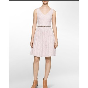 Calvin Klein Jacquard Fit And Flare Dress