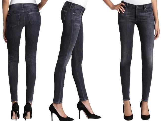 """Item - Medium Wash """"Avedon"""" Style: 133-002 Cut: 3117 Stove Pipe In """"Black Pacific Skinny Jeans Size 25 (2, XS)"""