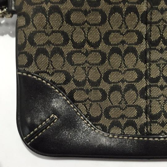 Coach Wristlet in Black And Olive