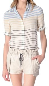 L'AGENCE Short Sleeve Top Striped