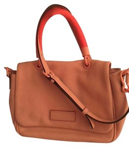 Marc by Marc Jacobs Leather Summer Coral Satchel in Peach Flower Multi