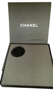 Chanel RARE AUTHENTIC LARGE HEAVY CHANEL EMPTY STORAGE PEARL NECKLACE BOX VELVET JEWELERY