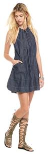Free People short dress Dark Indigo on Tradesy
