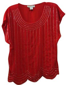 Aina Be Beaded Top Red