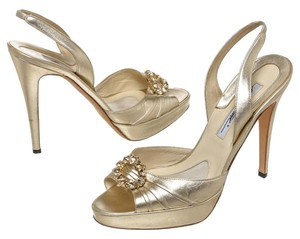 Brian Atwood Gold Sandals