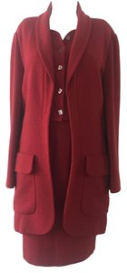 Karl Lagerfeld VINTAGE KARL LAGERFELD 2 PC SUIT RED COLLECTORS SIZE 44