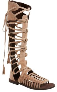 Free People Natural Suede Sandals