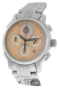 Perrelet Mens Perrelet Grand Maitre Double Rotor Steel Chrono Automatic Watch