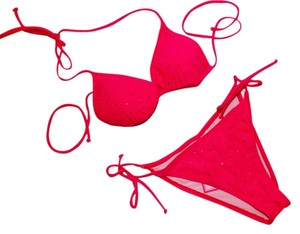Sundek Brand New with Tags Sundek Hot Pink Bikini with Rhinestones