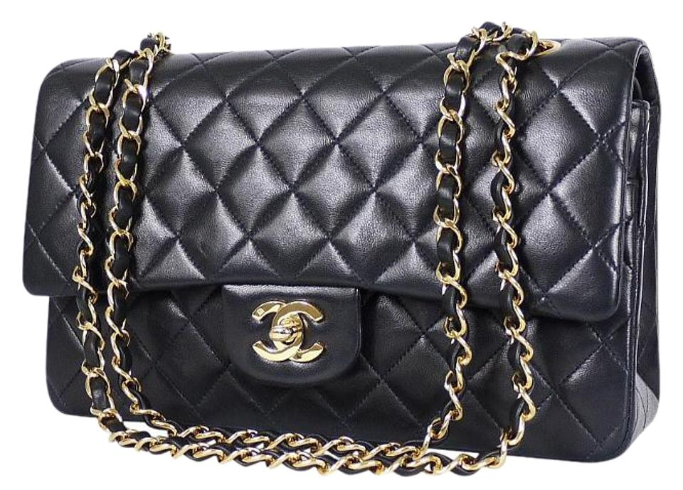 21d7778f270c Chanel 2.55 Reissue Double Flap Lamb Skin Classic 25cm Black Leather ...