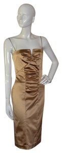 Nicole Miller Metallic Evening Cocktail Dress
