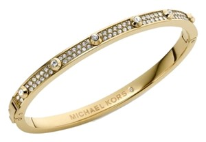 Michael Kors LAST Gold-Tone Crystal Hinge Bangle Bracelet