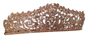 Wedding Brillinat Rose Gold Plated Tiara