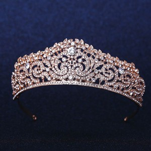 Gorgeous Rose Gold Austrian Crystal Tiara