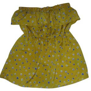Papaya Tube Ruffles Top Yellow