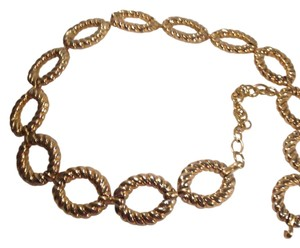 CHAIN LINK DRESS BELT Quality Goldplated Heavy Metal 36